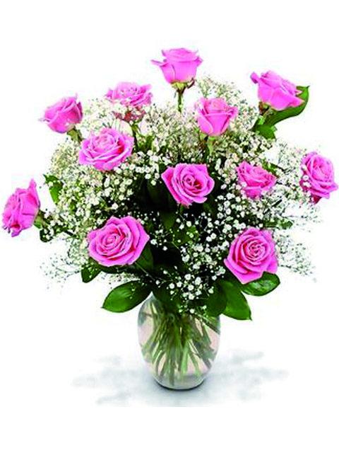 Mazzo 12 rose rosa