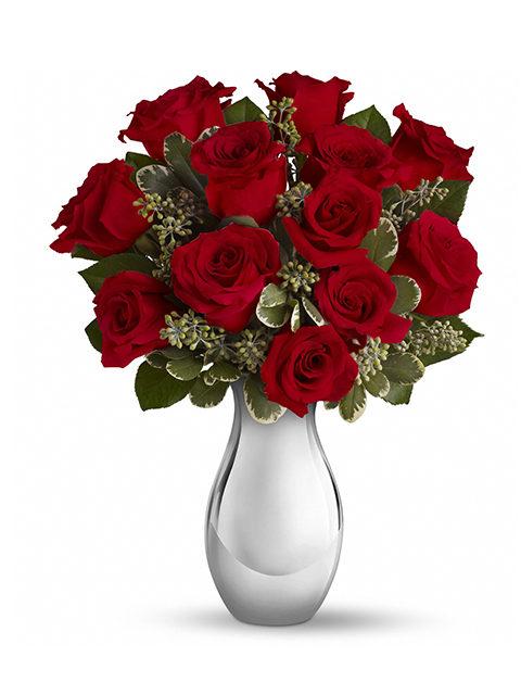 12 roselline rosse