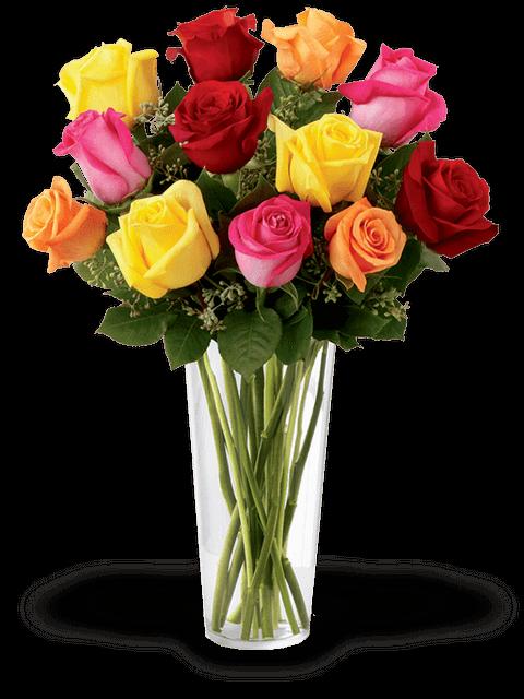 Bouquet di rose dai colori misti