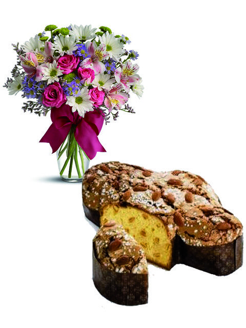 Bouquet beautiful con colomba