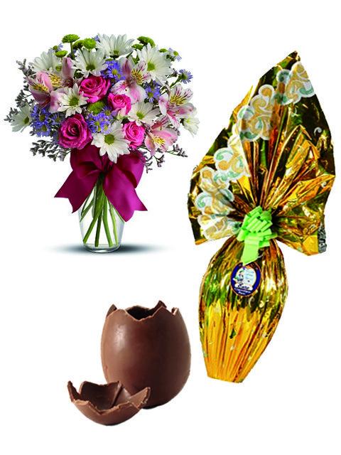 Bouquet beautiful con uovo di pasqua